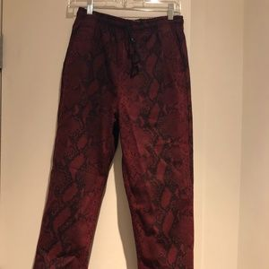 ALEXANDER WANG JOGGERS IN RED SNAKE